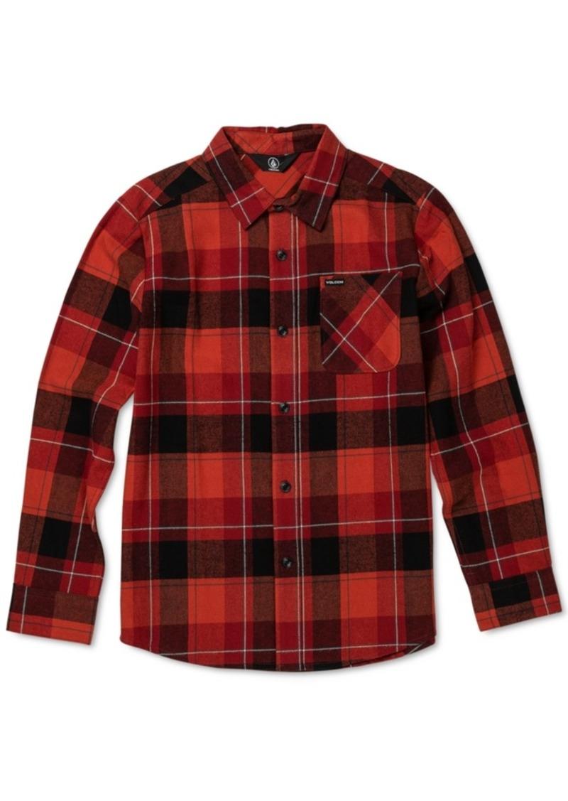 Volcom Toddler & Little Boys Cotton Modern-Fit Flannel Plaid Shirt