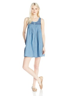 Volcom Junior's Cham Hey Chambray Sleeveless Dress  L