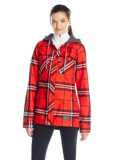 Volcom Women's Circle Flannel Snow Jacket  arge