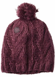 Volcom Women's Classic Fit Leaf Pattern Snow Beanie