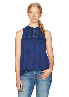 Volcom Women's Crunchroll Mock Collared Sleeveless Top  S