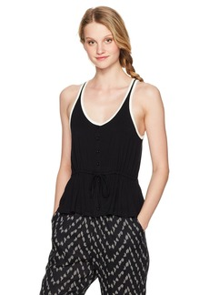 Volcom Women's Deeper Thoughts Buttoned Front Cami Tank Top  XS