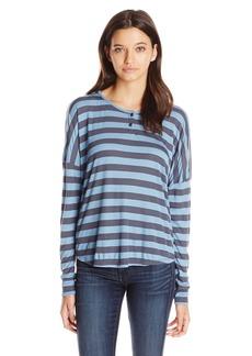 Volcom Junior's Don't Tell Long Sleeve Stripe Henley Top
