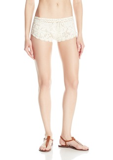 Volcom Women's Dwell Beach Crochet Cover up Shorts  L