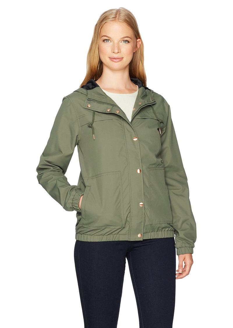 Volcom Women's Enemy Stone Hooded Windbreaker Jacket DCA XS