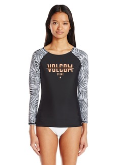 Volcom Women's Leaf Me Alone Long Sleeve Rashguard  XS