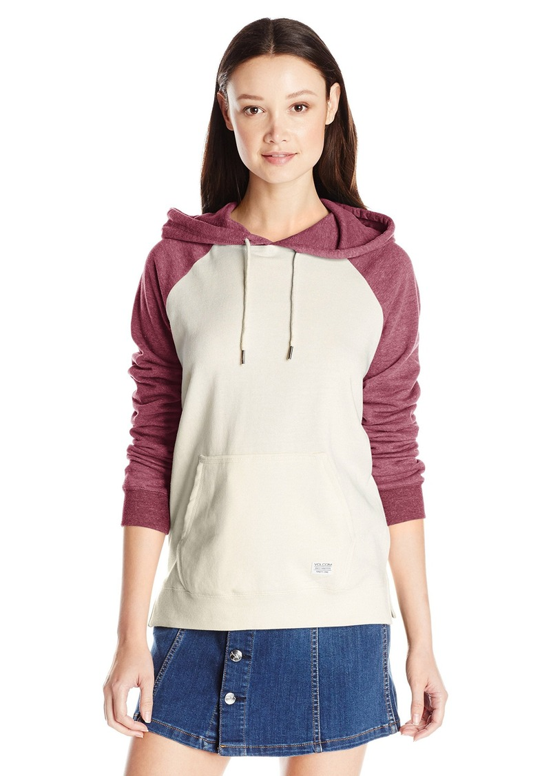 Volcom Junior's ived In Color Blocked Pullover Hoodie  arge