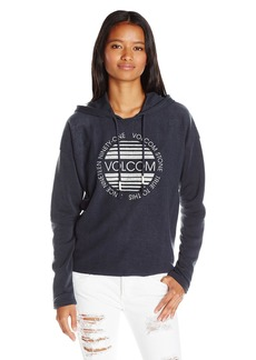 Volcom Women's Lived in Relaxed Fit Graphic Hoodie  X-Small