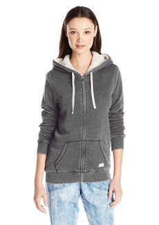 Volcom Women's Lived in Sherpa Zip up Hoodie  X-Small