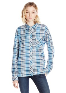 Volcom Junior's Oldie N Goodie Long Sleeve Flannel Plaid Shirt