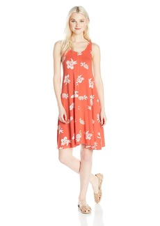 Volcom Junior's Pine for Me Pineapple Print Racer Back Dress  M