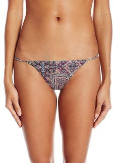 Volcom Women's Sea La Vie Boho Print Reversible Tiny Bikini Bottom