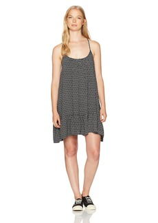 Volcom Women's Simple Things Allover Print Strappy Cami Dress  M