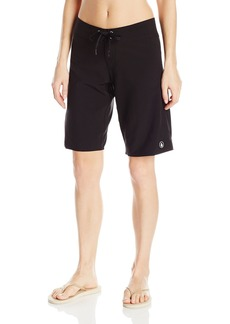 Volcom Women's Simply Solid 11-Inch Classic Swim Boardshort