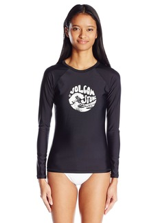 Volcom Women's Simply Solid Long Sleeve Rashguard  S