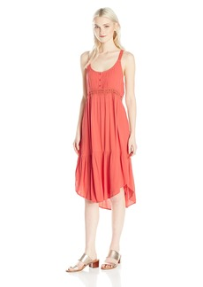 Volcom Junior's Summit Stone Loose Fitting Cami Dress PSP S