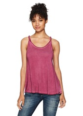 Volcom Women's Twisted Time 2 Overdyed Knit Tank  M