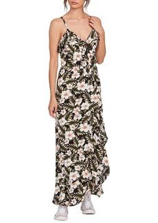 Volcom x Coco Ho Sleeveless Ruffle Maxi Dress
