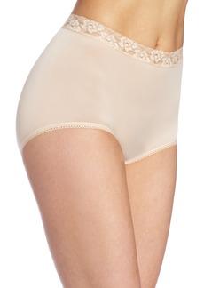 Wacoal America Inc. Wacoal Underwear Bodysuede Lace Waist Brief Natural Nude