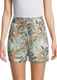 Walter Joanna Printed Drawstring Shorts