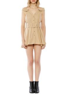 Walter Baker Belted Cotton Mini Dress