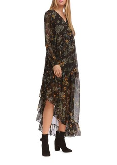 Walter Baker Brendan Asymmetric Long-Sleeve Dress