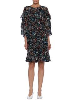 Walter Baker Floral Ruffled Sleeves Bella Dress