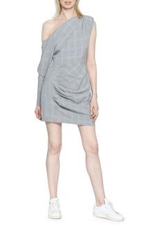 Walter Baker Lindsey Plaid One-Shoulder Dress