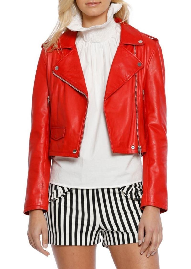 78a2cc67ee761 Walter De Silva Walter Baker Liz Leather Moto Jacket