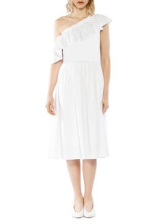 Walter Baker Ruffled Cotton Midi Dress