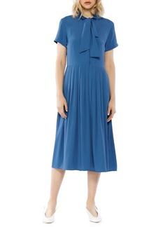 Walter Baker Self-Tie Neck Midi Dress