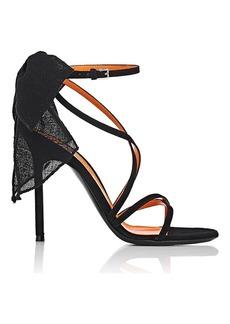 Walter De Silva Women's Bow-Embellished Suede Sandals
