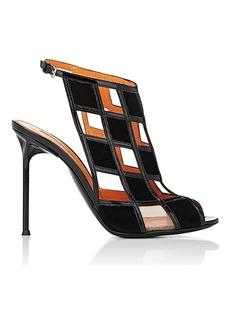 Walter De Silva Women's Cutout Suede & Patent Leather Sandals