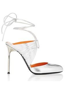 Walter De Silva Women's Leather Ankle-Tie Sandals