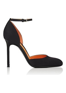 Walter De Silva Women's Satin Ankle-Strap D'Orsay Pumps