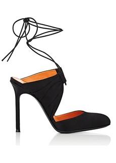Walter De Silva Women's Satin Ankle-Tie Sandals
