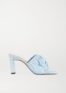 Wandler Ava Ruched Leather Mules