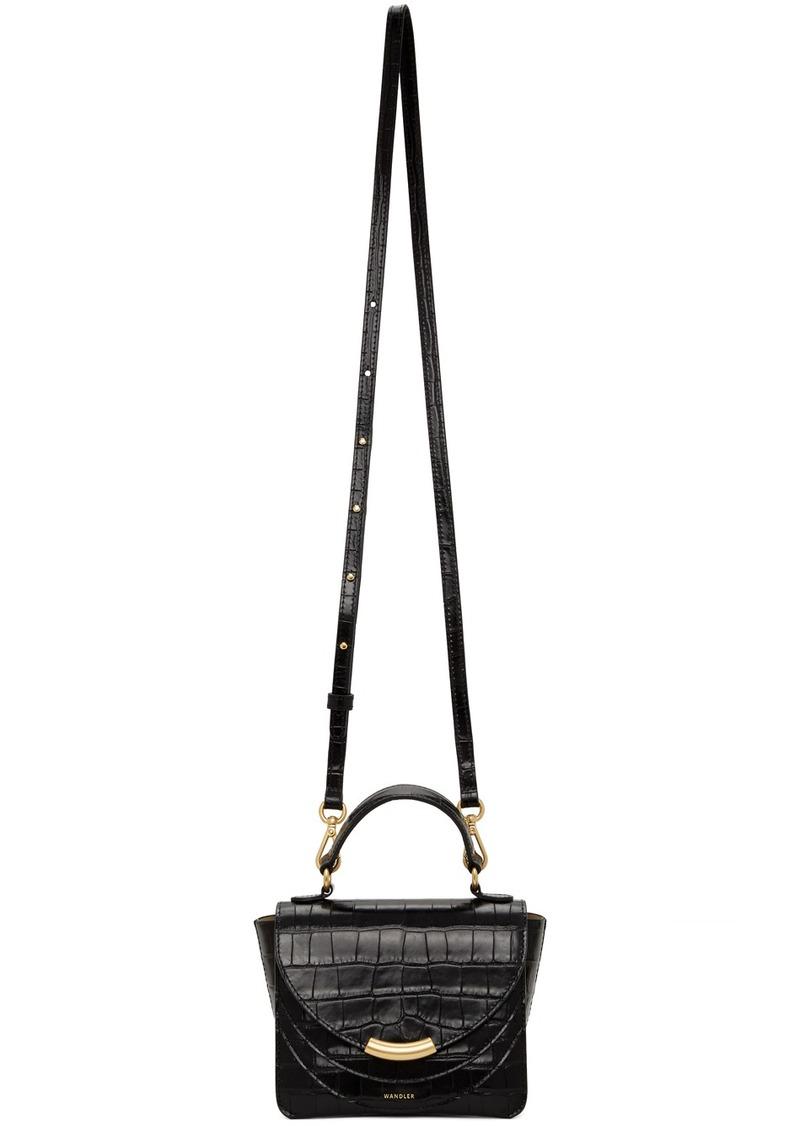 Wandler Black Croc Mini Luna Arch Bag