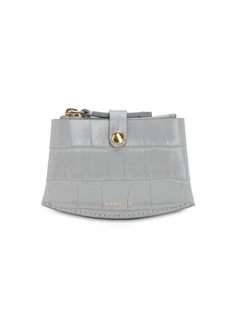 Wandler Corsa Croc Embossed Leather Card Case