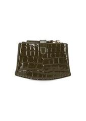 Wandler Corsa Croc Embossed Leather Card Holder
