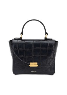 Wandler Mini Luna Croc Embossed Leather Bag