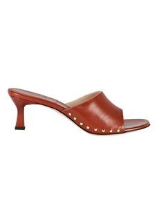 Wandler Nana Leather Slide Sandals