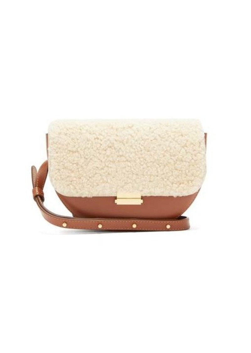 Wandler Anna shearling and leather belt bag