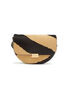 Wandler Anna zebra-print calf hair belt bag