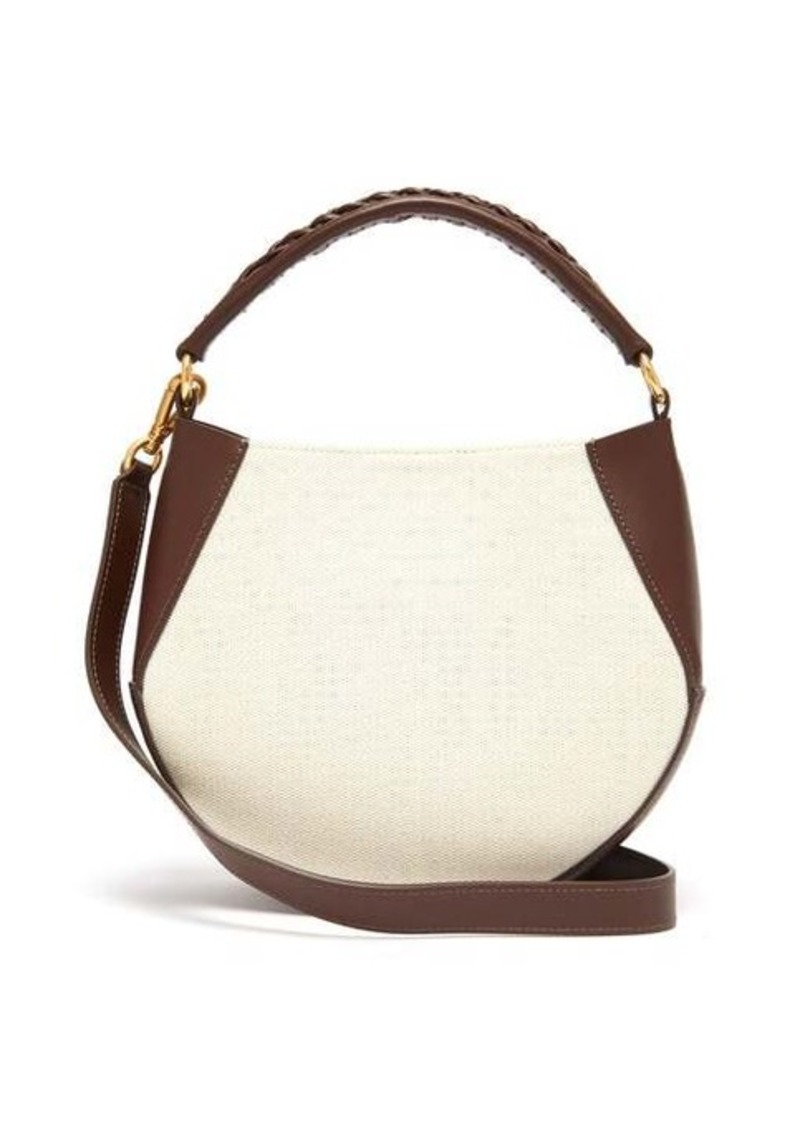 Wandler Corsa mini leather and canvas tote