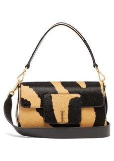 Wandler Georgia zebra-print calf-hair shoulder bag