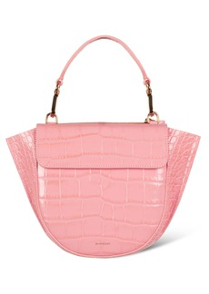 WANDLER Hortensia Croc Embossed Leather Mini Bag