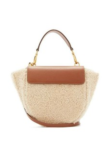 Wandler Hortensia mini shearling cross-body bag