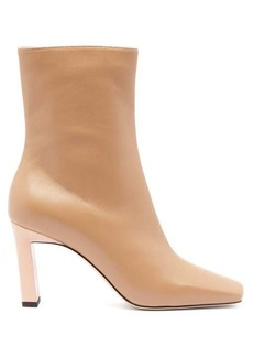 Wandler Isa bi-colour square-toe leather boots