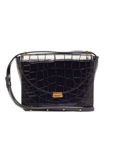 Wandler Luna crocodile-embossed leather cross-body bag